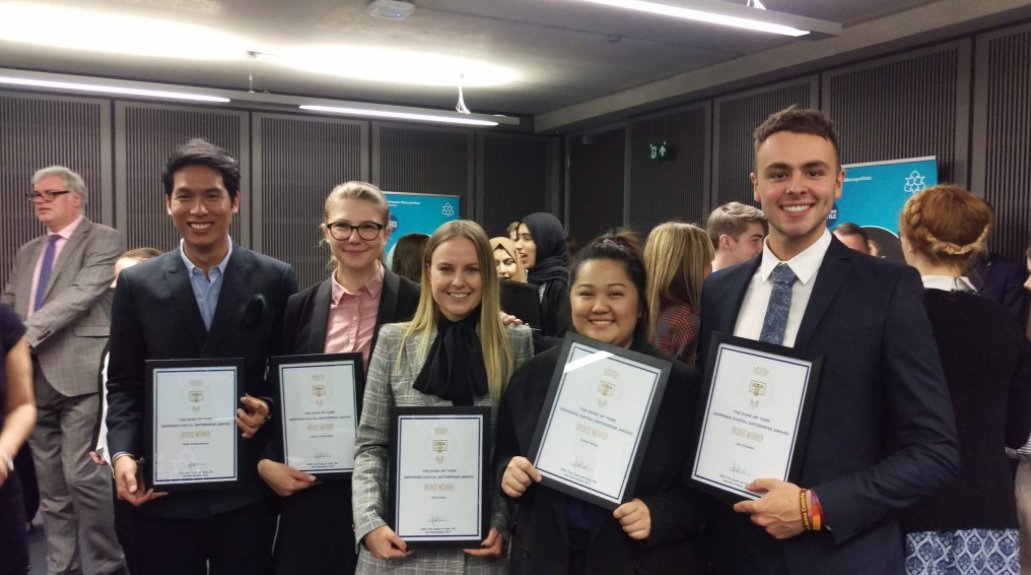 iDEA award winners at Manchester Metropolitan University